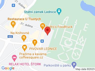 Lednice (zámek) map