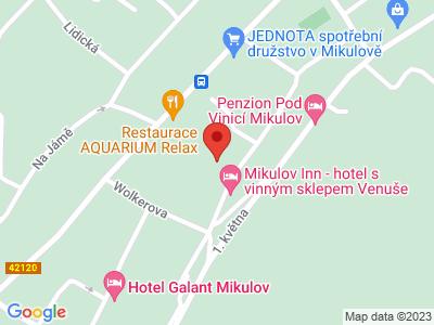Mikulov - Valtice - Lednice map