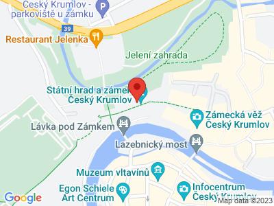 Český Krumlov (hrad a zámek) map