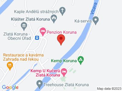 Zlatá Koruna Monastery map