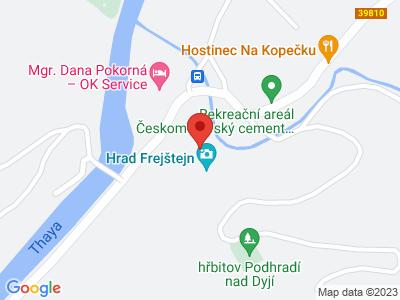 Frejštejn map