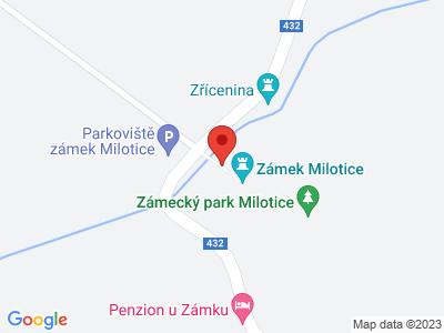Schloss Milotice map