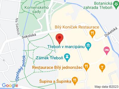 Třeboň - lázně map