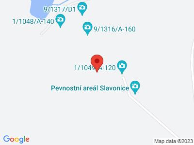 Pevnostní areál Slavonice map