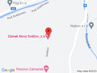 Nový Světlov (zámek) map