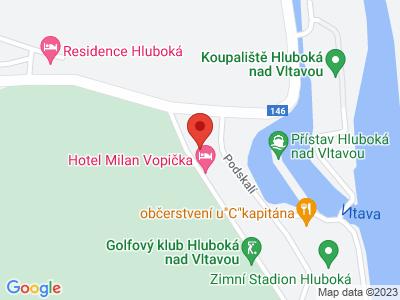 Sportovně relaxační areál pro děti Hluboká nad Vltavou map