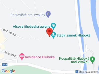Hluboká nad Vltavou (zámek) map