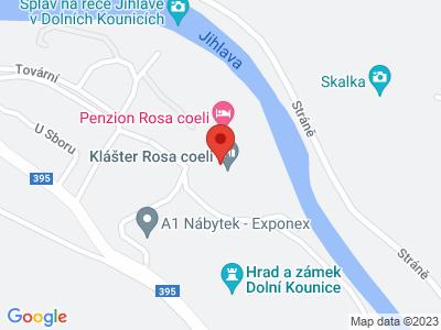 Klášter Rosa coeli v Dolních Kounicích map