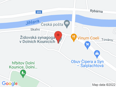 Židovská synagoga v Dolních Kounicích map