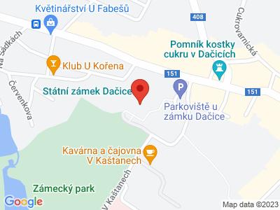Dačice (zámek) map