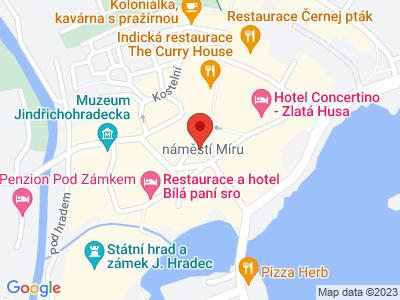 Jindřichův Hradec - památková rezervace map