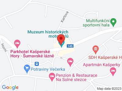 Moto muzeum Kašperské Hory map