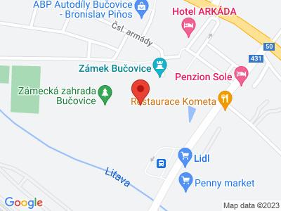 Bučovice (zámek) map