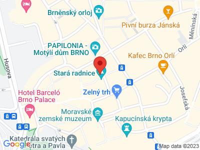 Věž Staré radnice v Brně map