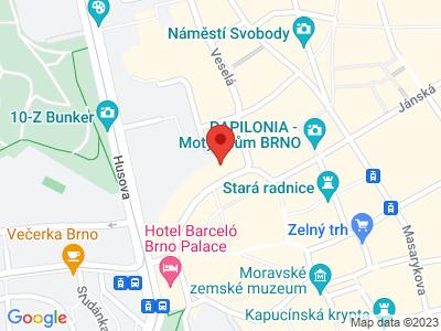 Church of St. Michala Brno map