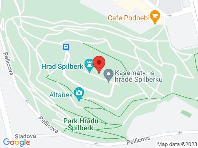Špilberk Castle map