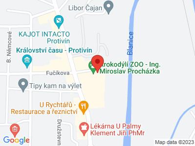 Krokodil ZOO Protivín map