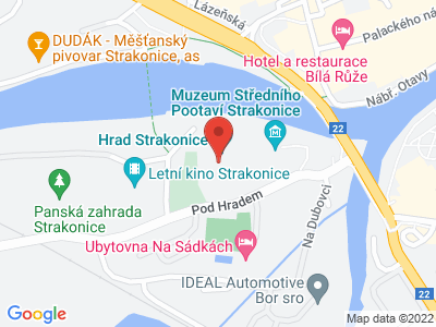 Naučná stezka Švandy Dudáka Strakonice map