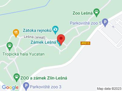 Zlín Lešná (zámek) map