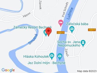 Bechyně (zámek) map