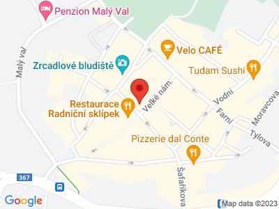 Kroměříž map