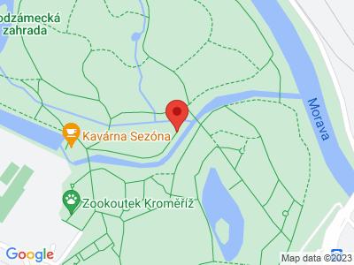 Kroměříž – Svárovský rybník – Záhlinice + Zpět vlak map