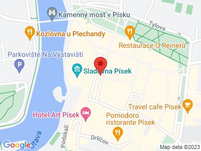 Písek - královské město map