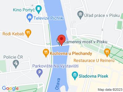 Stone (Deer) bridge in Písek map
