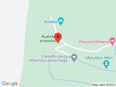 Rudické propadání and Kolíbky map