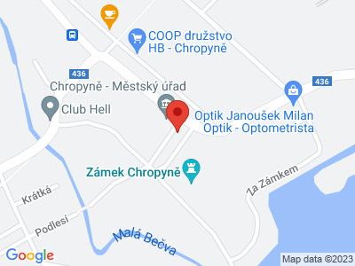 Chropyně (zámek) map
