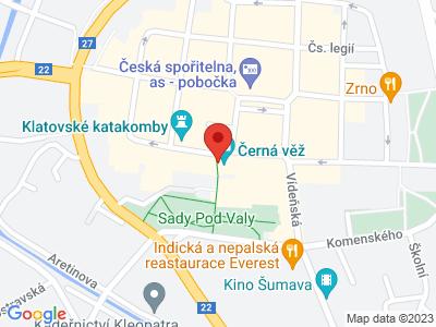 Černá věž v Klatovech map