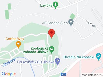 ZOO Jihlava map