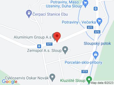 Sloup - Šošůvka - Helišova skála - Sloup map