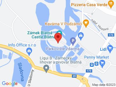 Blatná (zámek) map