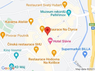Pelhřimov map