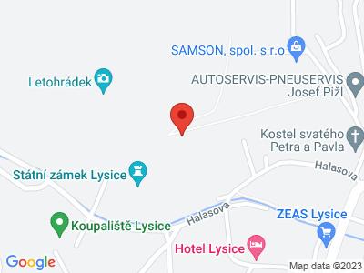 Lysice (zámek) map