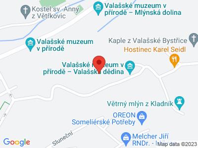 Rožnov pod Radhoštěm - open-air museum map