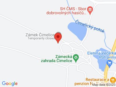 Čimelice (zámek) map