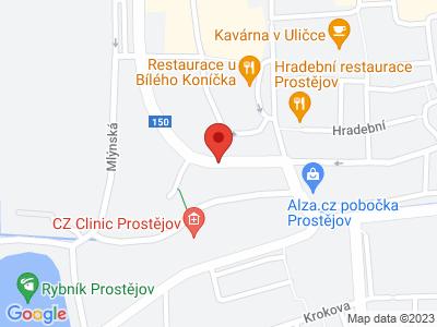 Prostějov - Kostelec na Hané - Lutotín - Čunín – Konice - Jesenec + zpět vlak map