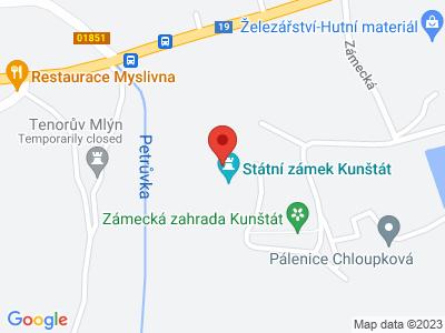 Kunštát (zámek) map
