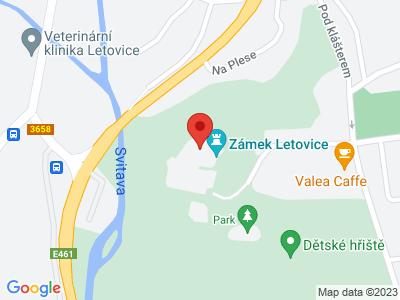 Letovice (zámek) map