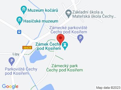 Čechy pod Košířem (zámek) map
