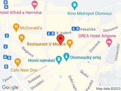 Olomouc - perla na Hané map