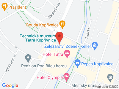 Technické muzeum Tatra Kopřivnice map