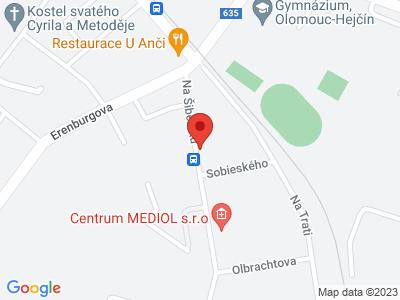 Olomouc - Horka nad Moravou - Hynkov - Střeň map