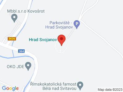 Svojanov (hrad) map
