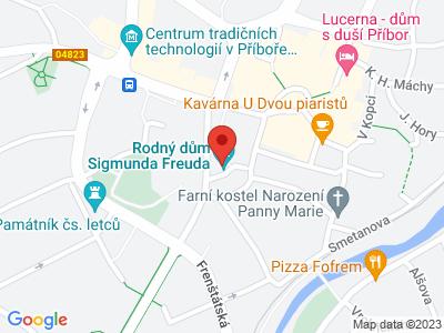 Rodný dům Sigmunda Freuda Příbor map