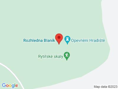 Velký Blaník lookout tower map