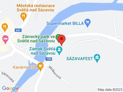 Světlá nad Sázavou (zámek) map