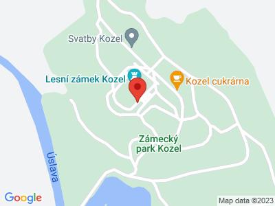 Kozel (chateau) map